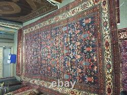 11x19 Antique Signed Persian Bidjar Rug Garrus 100% Antique 105 years old