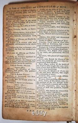 1792 SIGNED ADAMS FAMILY KING JAMES HOLY BIBLE KJV Old and New Testament Antique