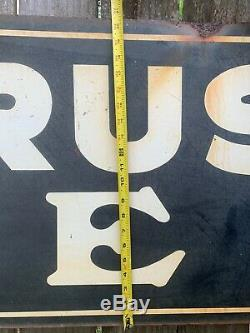 1930's Old Antique Sign Bucyrus Erie Mining Railroad Crane Equipment
