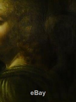19th Century Italian Old Master Angel The Virgin Of The Rocks Leonardo DA VINCI
