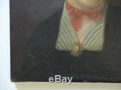 19th Century Old Masterful Portrait Painting Signed Antique Pretty Woman Model