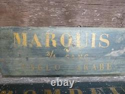 2 X Vintage, Antique Wine Cellar, Merchant, Vineyard Hand Painted Signs, Marquis, Old