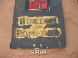 30111 Old Antique Enamel Sign Advert Ind Coope Brewery Beer Pub Slate Bottle