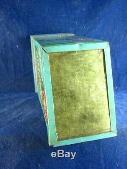 35869 Old Vintage Antique Tin Hardware Shop Dressmaker Sewing Pins Hook Eye Sign