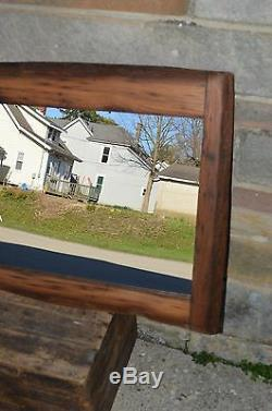 41 WORMY CHESTNUT LIVE EDGE MIRROR HANDCRAFTED with150 YEAR OLD WOOD HZ #16ET20