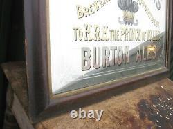 46977 Old Vintage Antique Enamel Sign Pub Mirror Advert Worthington Brewery Jug
