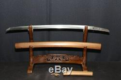 (AK-4)Very Old Blade KANETUGI signMUROMACHI first half age with Judgment Paper