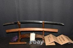 (AX-3) Old MUROMACHI Beautiful Blade SEKI KANEFUSA sign with Judgment paper