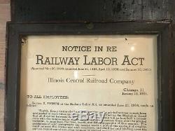 Aafa Early Primitive Old Railroad Bulletin Wood Sign Original Black