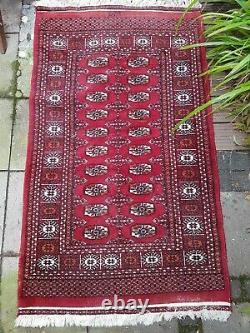 Alter Turkmenischer Teppich signiert old Turkmen rug signed 17094