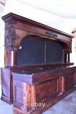 AntiqueBarForSale OLD Brunswick 16' Birch Metropolitan Saloon Bar