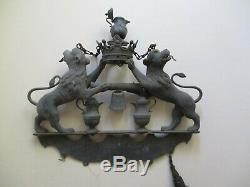 Antique 18th 19th Century Trade Sign Sculpture Metal Crown Iconic Large Old Rare