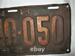 Antique 1926 New Hampshire USA Gas Oil Old Man Mountain Sign License Plate Nh Us