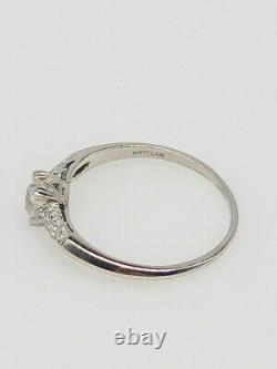Antique 1940s Signed ARTISAN. 75ct VS H Old Mine Cut Diamond Platinum Ring
