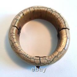 Antique African, Asian tribal bangle / bracelet / Ornament / Jewel / Old repairs