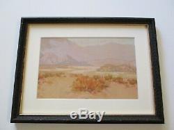 Antique American Painting Safford Impressionism Desert Landscape California Old