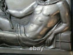 Antique Art Deco Sculpture 1920's Male Model Icon Iconic Nautical Old Ship Rare