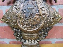 Antique Bronze Virgen de San Juan de los Lagos Religious Hospital Sign Plaque