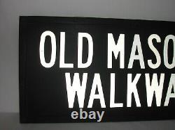 Antique Cast Iron Old Masonic Walkway Free Mason Lodge Temple Grand View Sign
