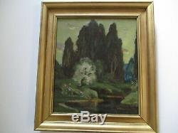 Antique Eliot Candee Clark Painting Rare Impressionism American Landscape Old