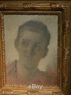 Antique Frans Schultz Original Oil Painting Portrait Spanish Boy Old Master Dane