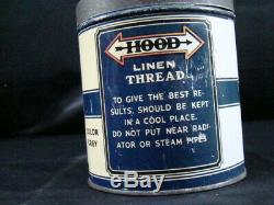 Antique Hood Tire Cord not quart Motor Oil Can Old Car Sign Original Advertising