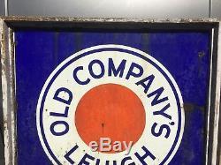 Antique Large Old Companys Lehigh Premium Anthracite Coal Porcelain Sign PA #1