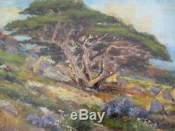 Antique Manuel Valencia Painting Early Old California Impressionist Landscape