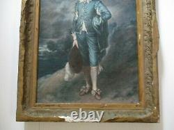Antique Oil Painting After Thomas Gainsborough Signed 19th Century Old Master