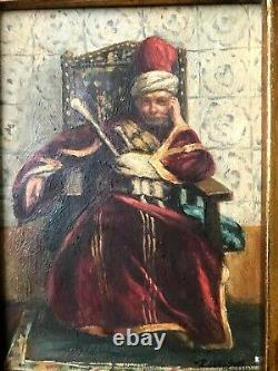 Antique Oil Painting, Orientalist Movement, Artist Signed, Fine old Frame
