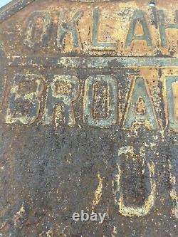 Antique, Oklahoma Broadway of America Sign Old Historic Sign Man Cave Decor