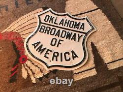 Antique, Oklahoma Broadway of America Sign, Rare, Authentic, OLD Historic