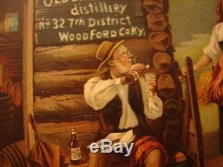 Antique Old Barbee Distillery Louisville Ky Tin Litho Tray Sign Vienna Art Plate