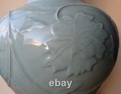 Antique Old Chinese Celadon Porcelain 21 Vase Longquan (51 Cm) Republic Period