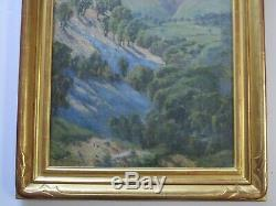 Antique Old Early California Plein Air Painting Landscape 1920's Impressionist