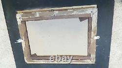 Antique Old English Cottage Oil Painting Nailed, Framed And Signed N. Barnett