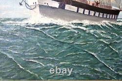 Antique Old English School Large Oil Painting on Canvas, signed I. R. B. 18th C