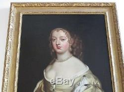 Antique Old Master Painting Portrait Gorgeous Pretty Female Woman Model 18th