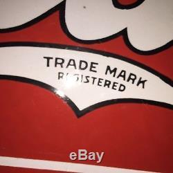 Antique Old Perfect sign Coca Cola insegna smaltata Made In USA 30-40