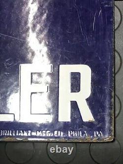 Antique Old Rare Exide Battery Ad Automobile Parts Porcelain Enamel Sign Board