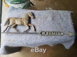 Antique Original James Circus Horse Weathervane FARM Barn Art Sign Old Wind