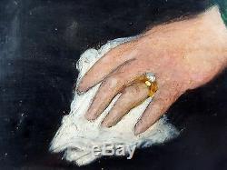 Antique Painting Charles Corbineau (1835-1901) Oil Panel Original Old Vintage