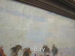 Antique Painting Hollywood Hills Old California Painting Los Angeles Landscape