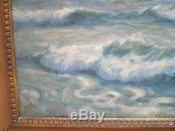 Antique Painting Over 100 Year Old Restoration Project Nautical Seascape Ships