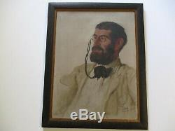 Antique Portrait Painting Early Joseph Cummings Chase New York Maine Rare Old