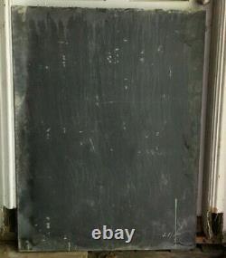 Antique School House Slate Chalkboard Slab 34x45 Vintage Menu Sign Old 720-21B