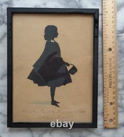 Antique Signed Silhouette of a 6 Year Old Girl 1849