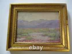 Antique Small Gem California Impressionist Painting Landscape Mystery Desert Old