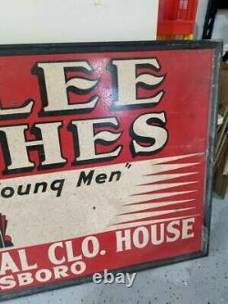 Antique Very Rare Sign 1940s Curlee Clothes 70-80 Years Old Vintage Collectibles