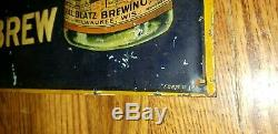 Antique Vintage BLATZ Drink Old Heidelberg BEER SIGN form # 128 very rare